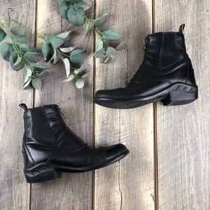 Ariat Heritage RT Black Zip Paddock Boots 8B